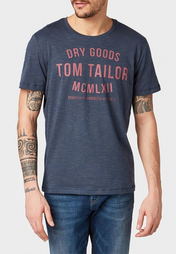Фото - мужскую футболку Tom Tailor синего цвета