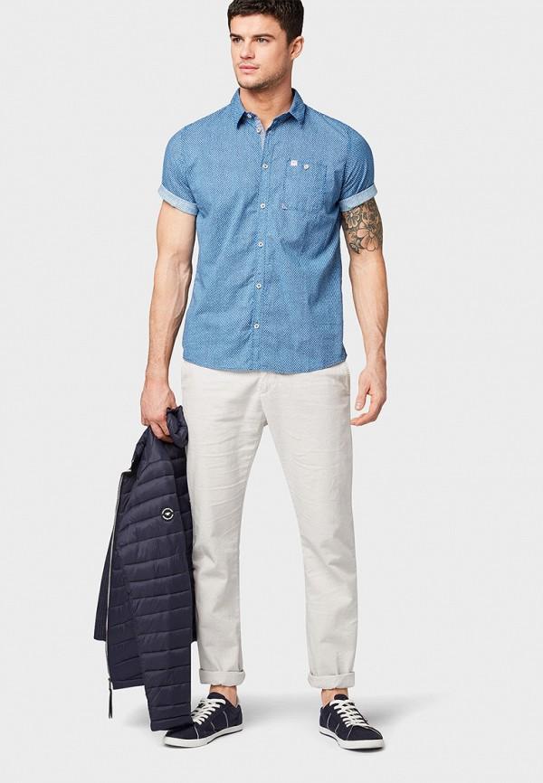 Фото 2 - мужскую рубашку Tom Tailor синего цвета