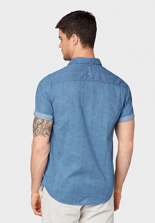 Фото 3 - мужскую рубашку Tom Tailor синего цвета