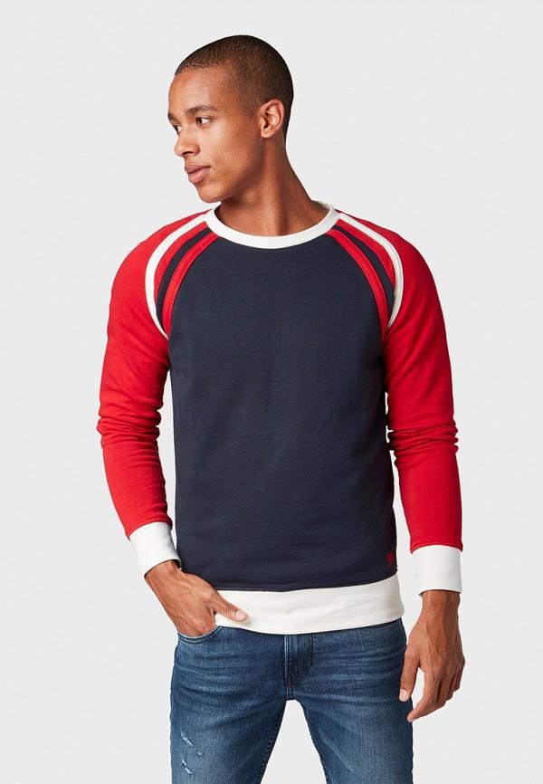 мужской свитшот tom tailor, разноцветный