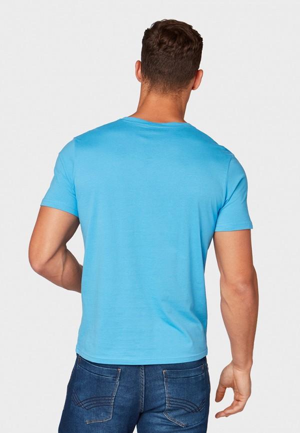 Фото 3 - мужскую футболку Tom Tailor голубого цвета