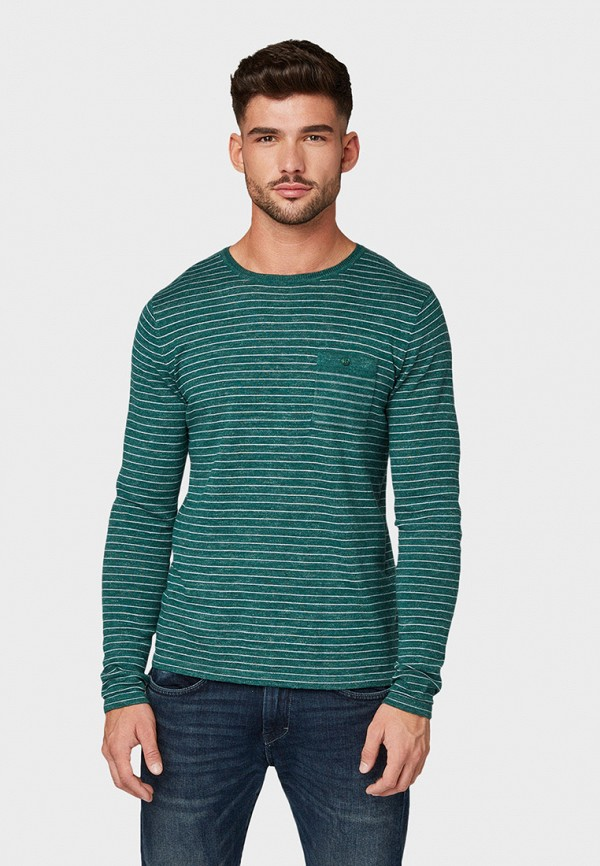 мужской джемпер tom tailor, зеленый
