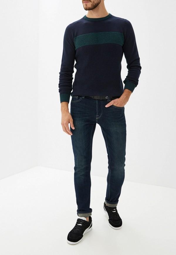 Фото 2 - мужское джемпер Tom Tailor синего цвета