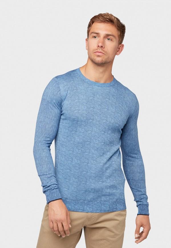 мужской джемпер tom tailor, голубой