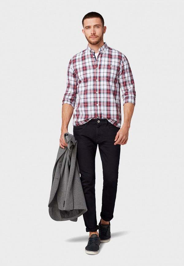 Фото 2 - мужскую рубашку Tom Tailor красного цвета
