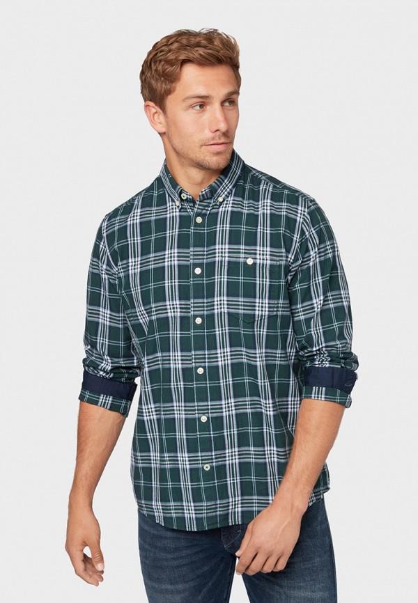 Фото - мужскую рубашку Tom Tailor зеленого цвета