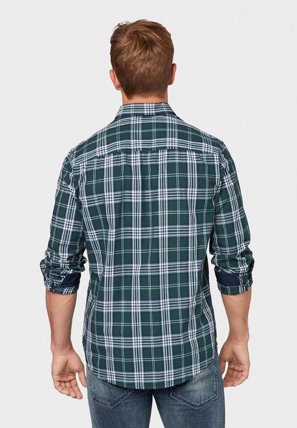 Фото 3 - мужскую рубашку Tom Tailor зеленого цвета