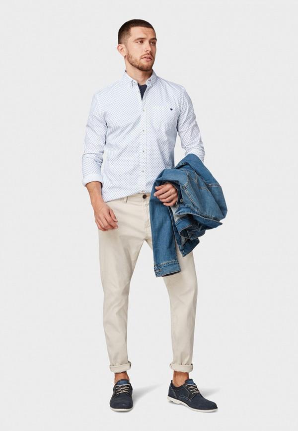 Фото 2 - Мужскую рубашку Tom Tailor белого цвета