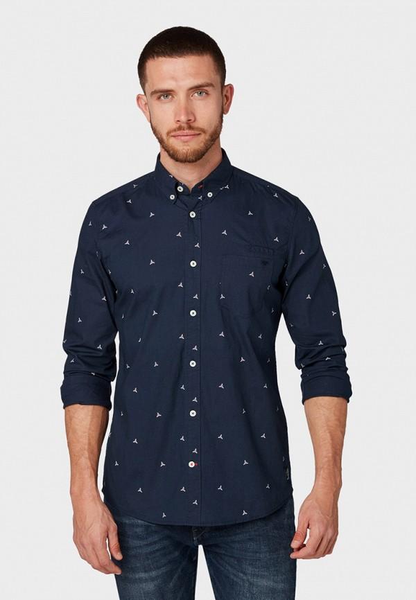 Фото - мужскую рубашку Tom Tailor синего цвета