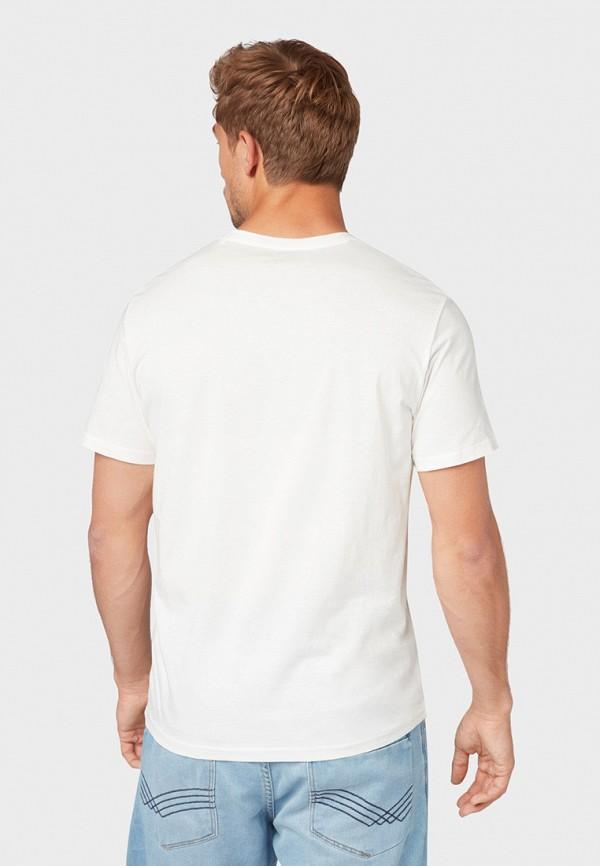 Фото 3 - мужскую футболку Tom Tailor белого цвета