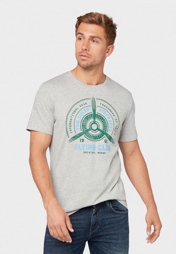 Фото - мужскую футболку Tom Tailor серого цвета