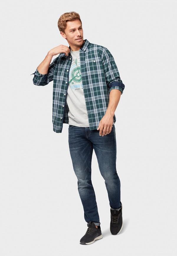 Фото 2 - мужскую футболку Tom Tailor серого цвета