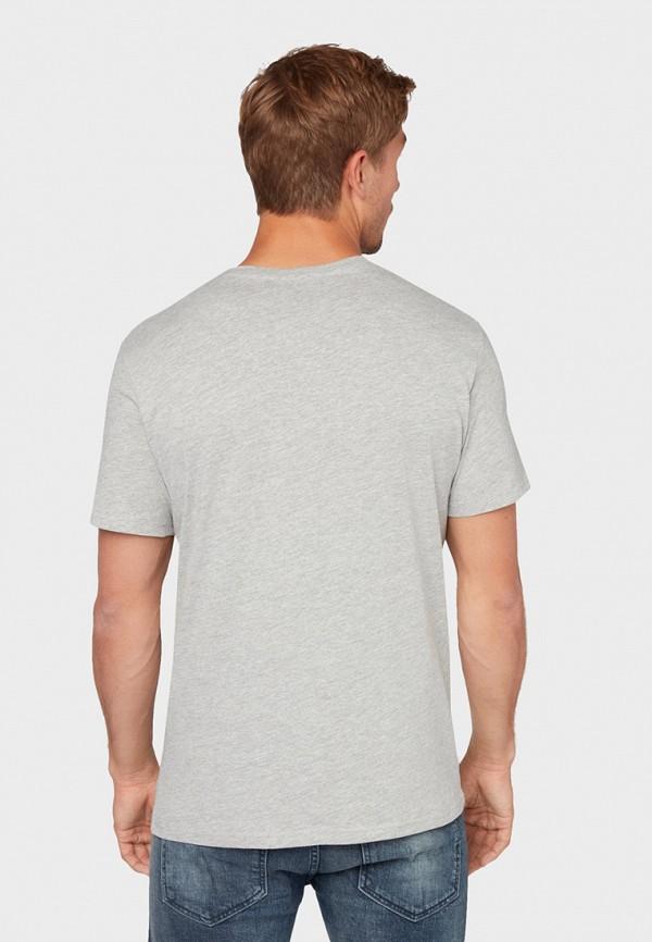 Фото 3 - мужскую футболку Tom Tailor серого цвета