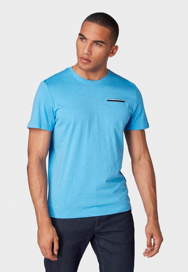 Фото - мужскую футболку Tom Tailor голубого цвета