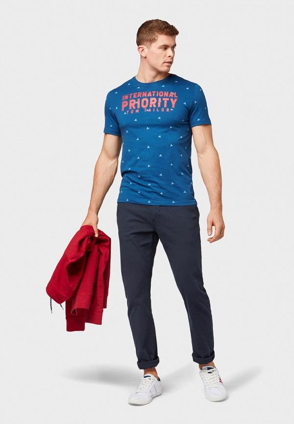 Фото 2 - мужскую футболку Tom Tailor синего цвета