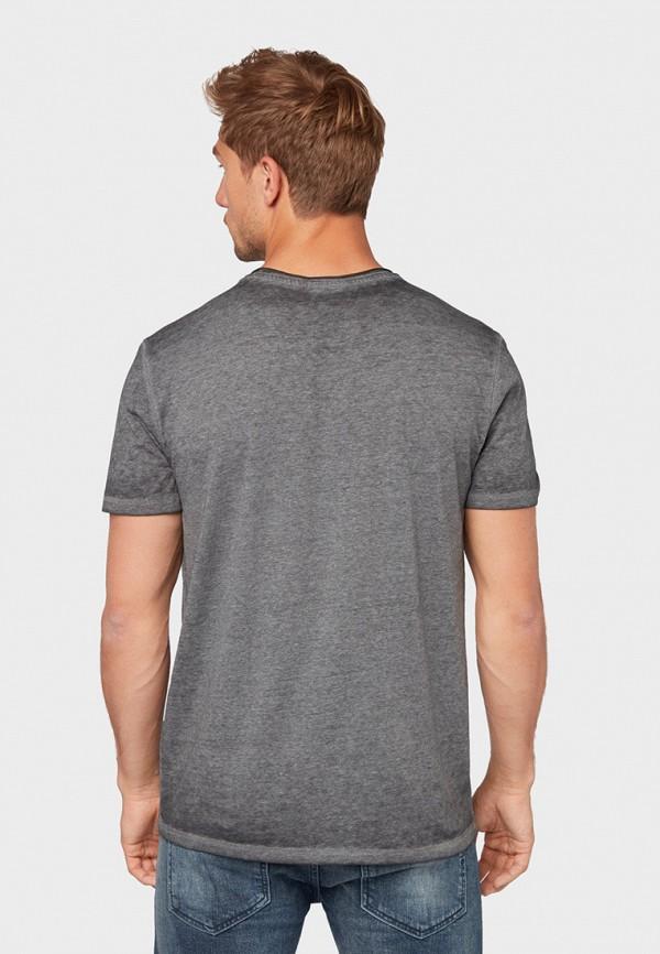 Фото 3 - мужскую футболку Tom Tailor синего цвета