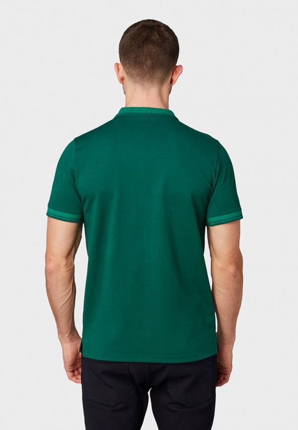 Фото 3 - мужское поло Tom Tailor зеленого цвета