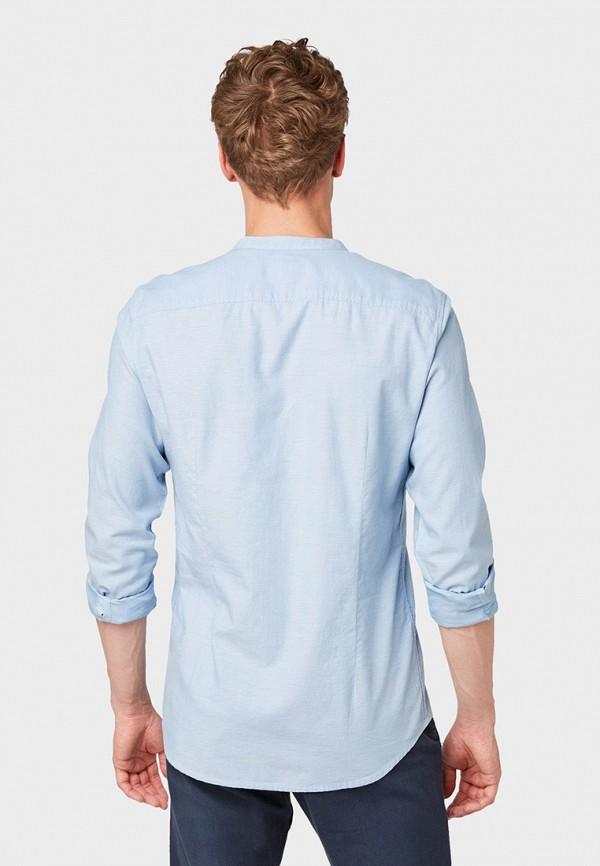 Фото 3 - мужскую рубашку Tom Tailor голубого цвета