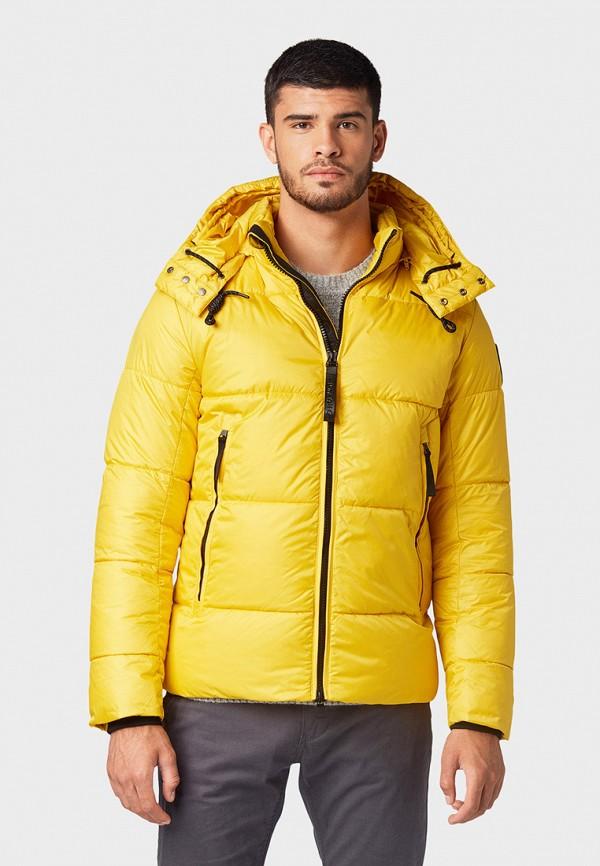 мужская куртка tom tailor, желтая