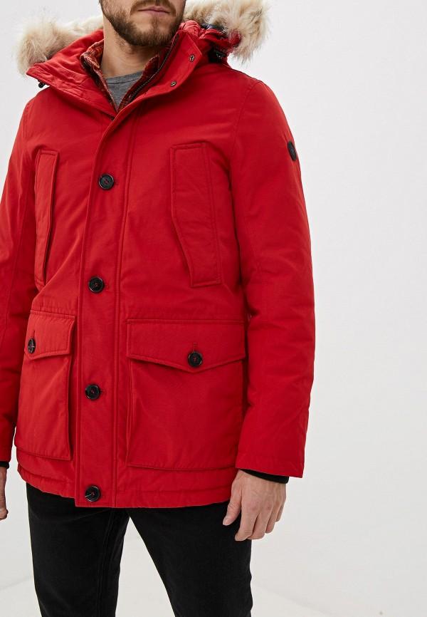 мужская утепленные куртка tom tailor, красная