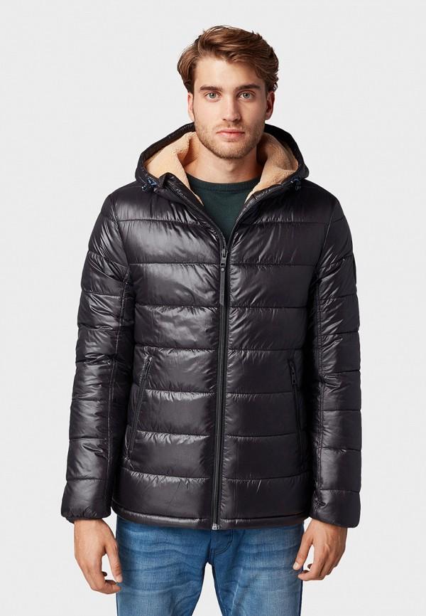 мужская куртка tom tailor, черная
