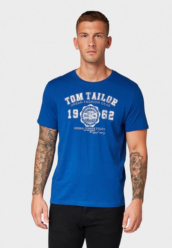мужская футболка tom tailor, синяя