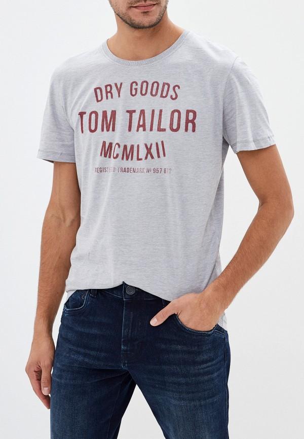 мужская футболка tom tailor, серая