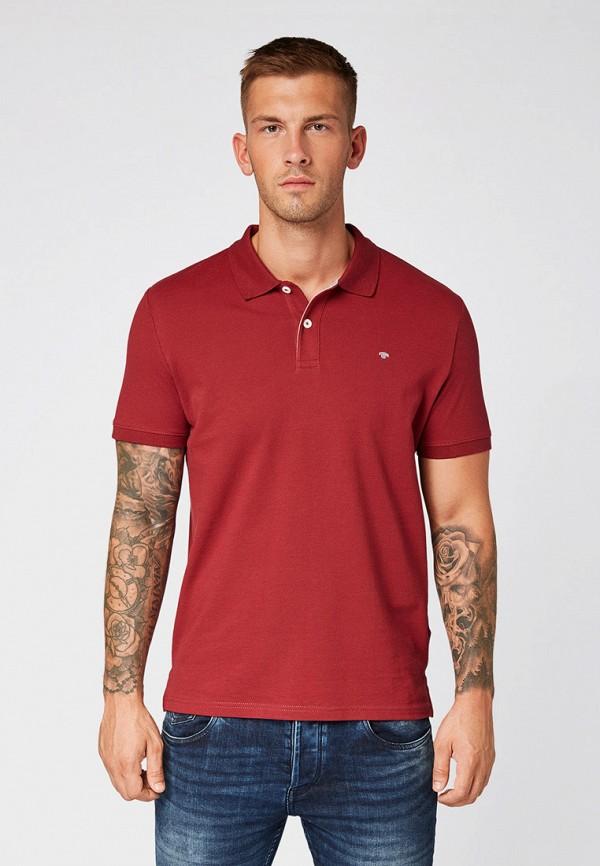 мужское поло tom tailor, красное