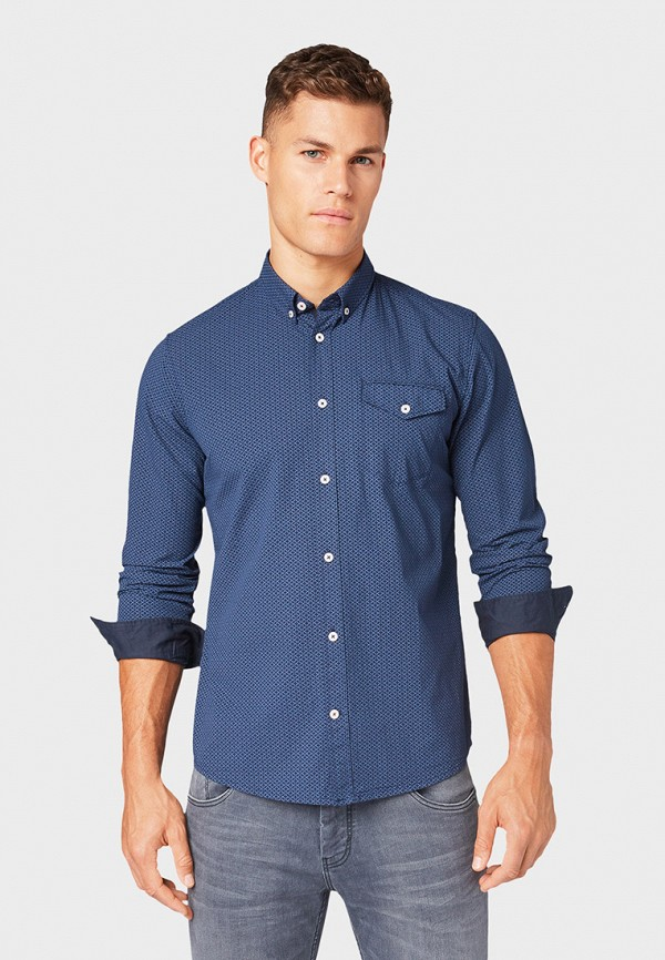 Рубашка Tom Tailor Tom Tailor TO172EMGBFJ8 рубашка regular tom tailor р s int 46 ru 37