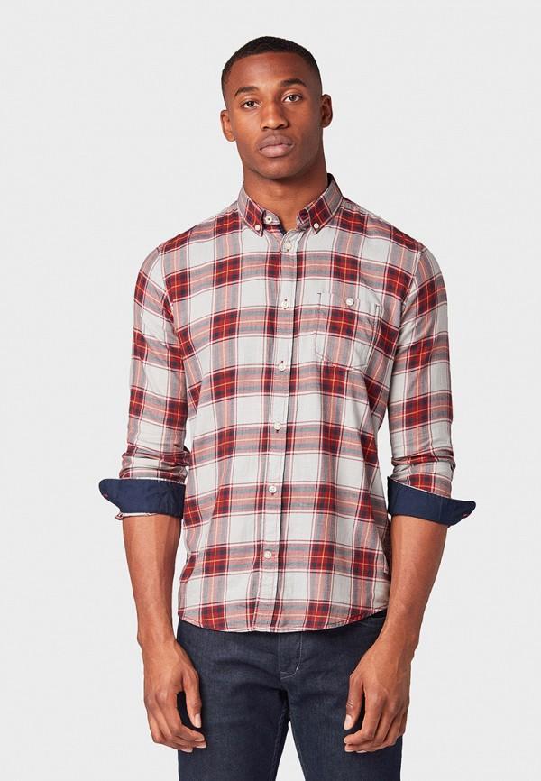 мужская рубашка tom tailor, разноцветная