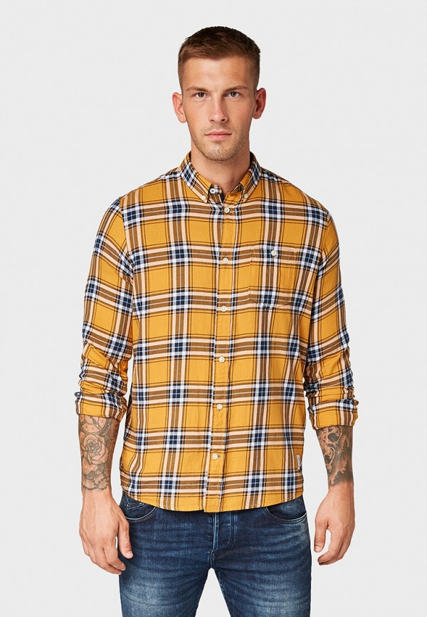 мужская рубашка tom tailor, желтая