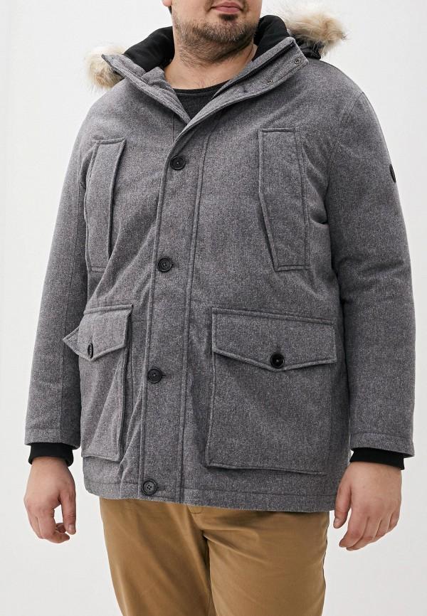 мужская утепленные куртка tom tailor, серая