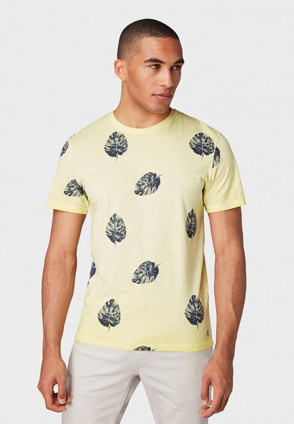 Фото - Мужскую футболку Tom Tailor желтого цвета