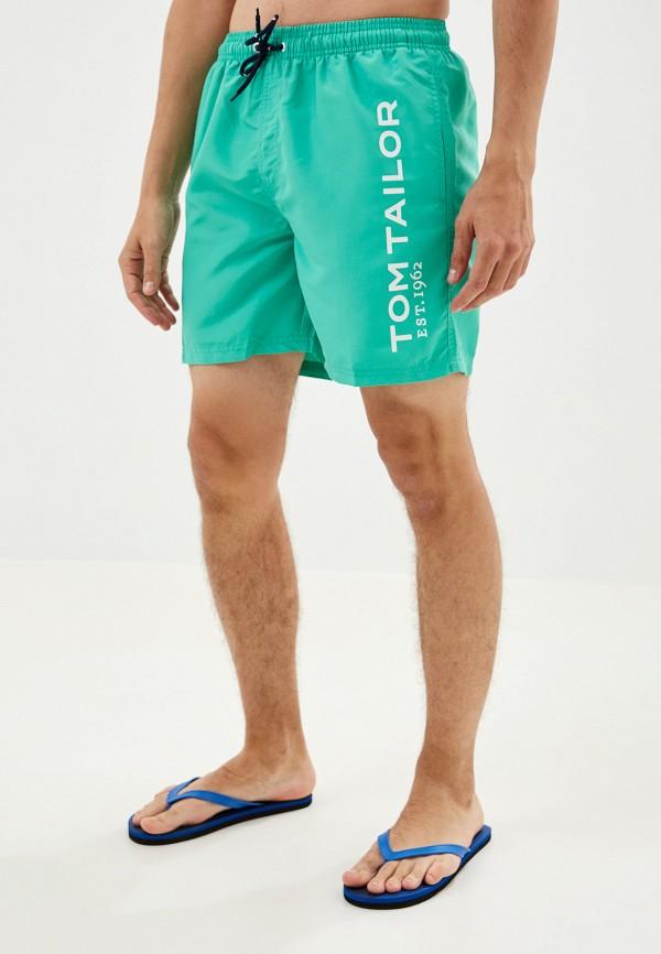 мужские шорты tom tailor, зеленые
