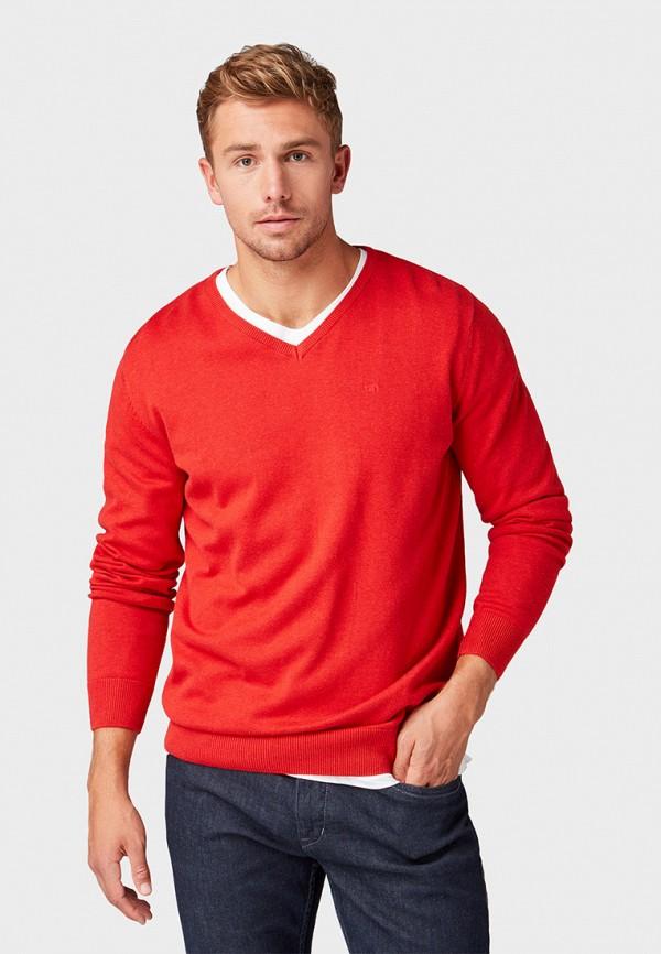 Фото - мужской пуловер Tom Tailor красного цвета