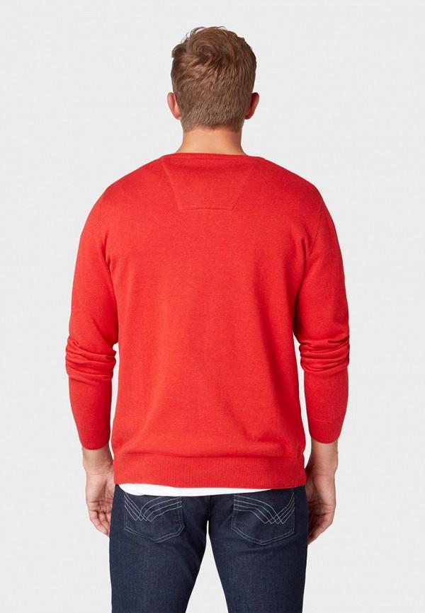 Фото 3 - мужской пуловер Tom Tailor красного цвета