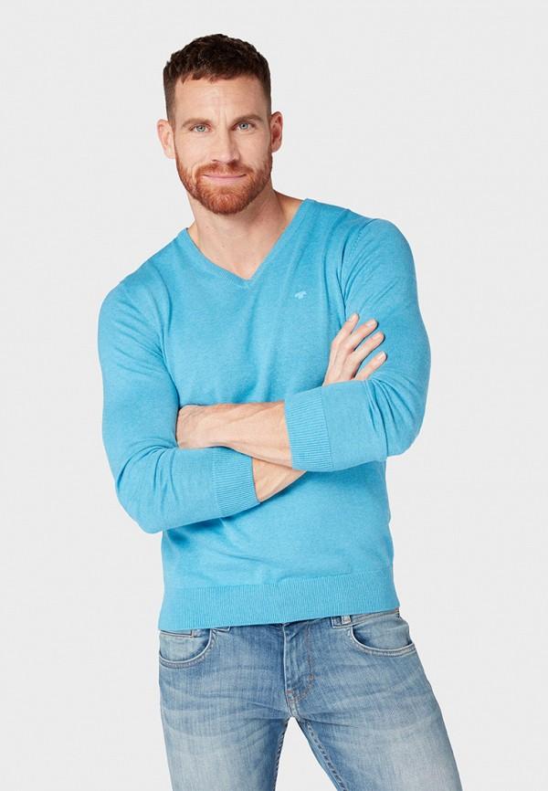 мужской пуловер tom tailor, голубой