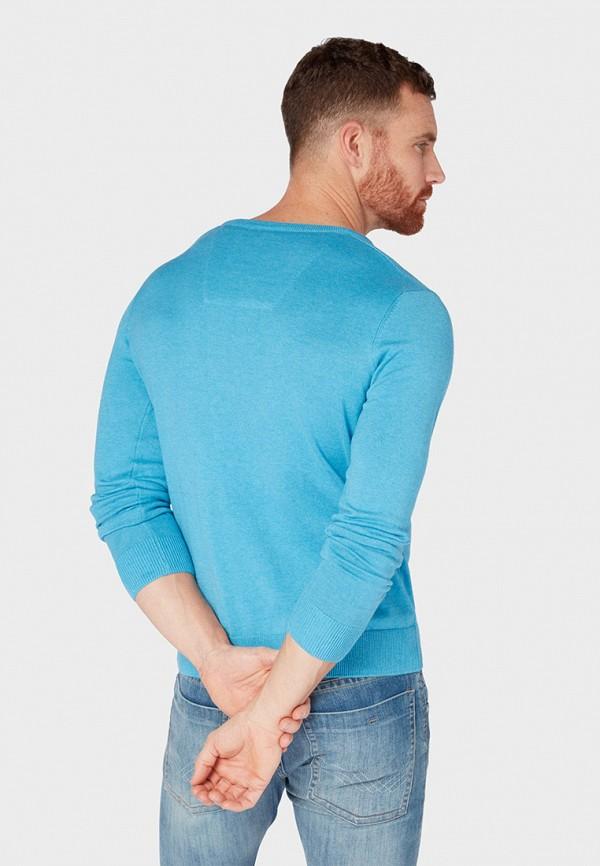Фото 3 - мужской пуловер Tom Tailor голубого цвета
