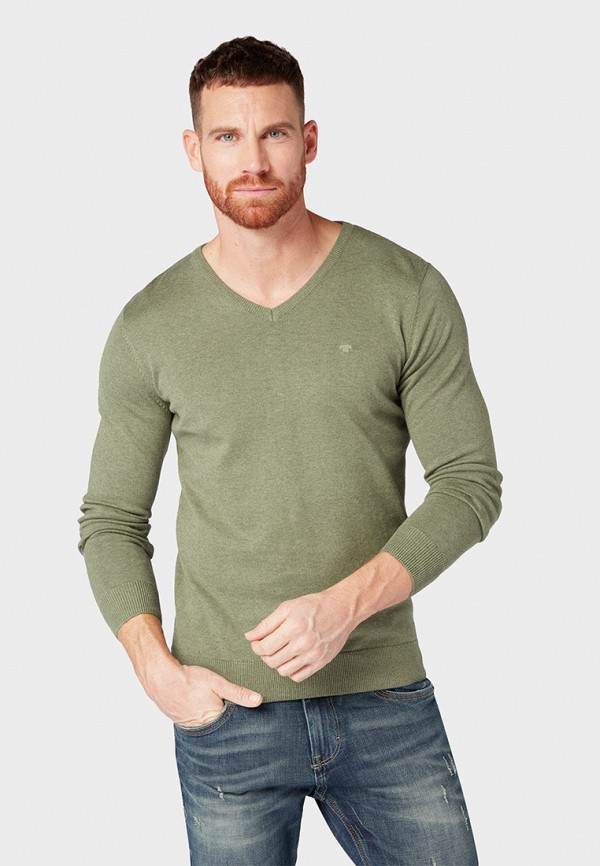 мужской пуловер tom tailor, хаки