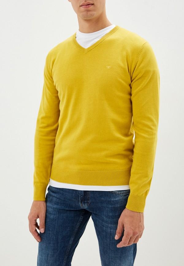 мужской пуловер tom tailor, желтый