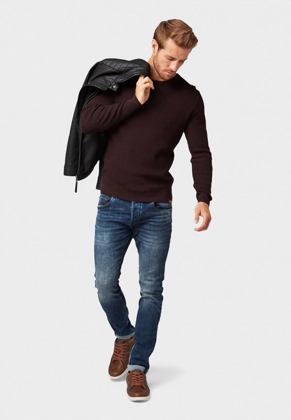 Фото 2 - мужское джемпер Tom Tailor бордового цвета