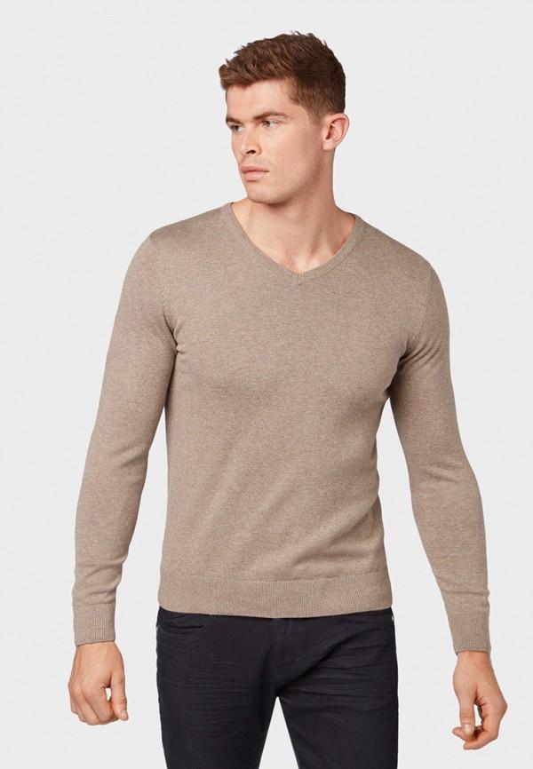 мужской пуловер tom tailor, бежевый