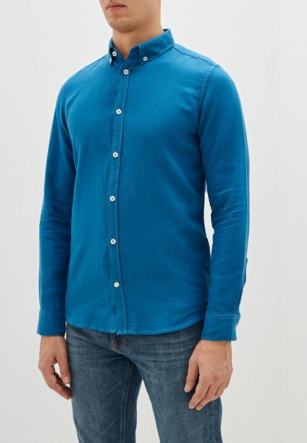 мужская рубашка с длинным рукавом tom tailor, синяя