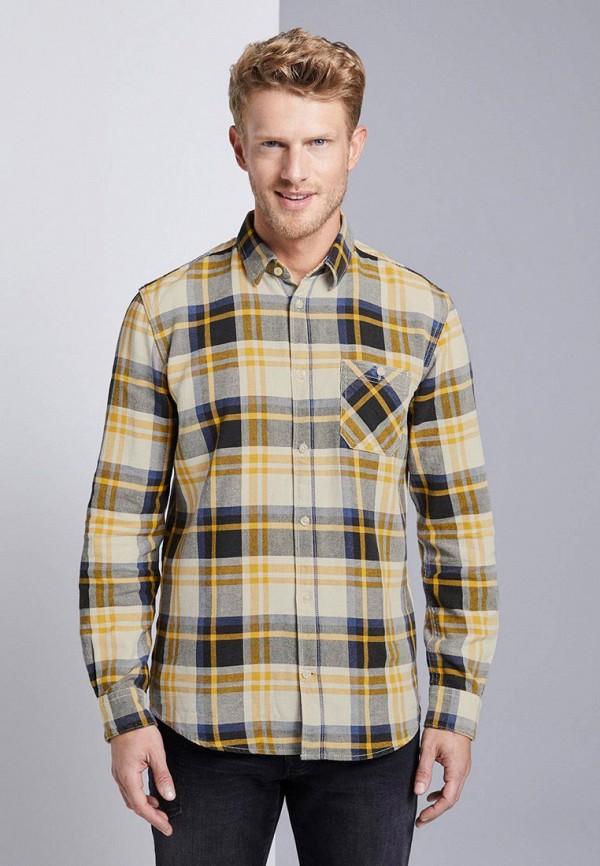 мужская рубашка с длинным рукавом tom tailor, желтая