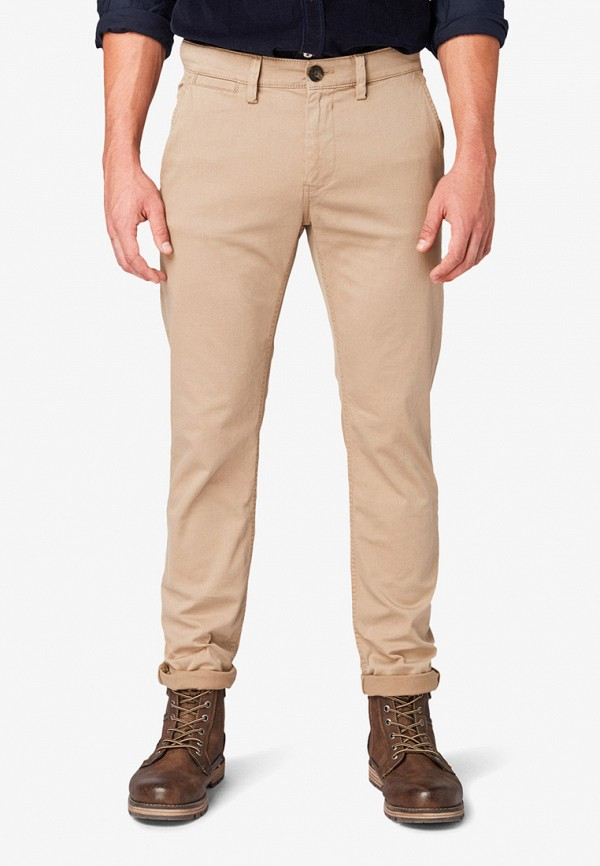 мужские повседневные брюки tom tailor, бежевые