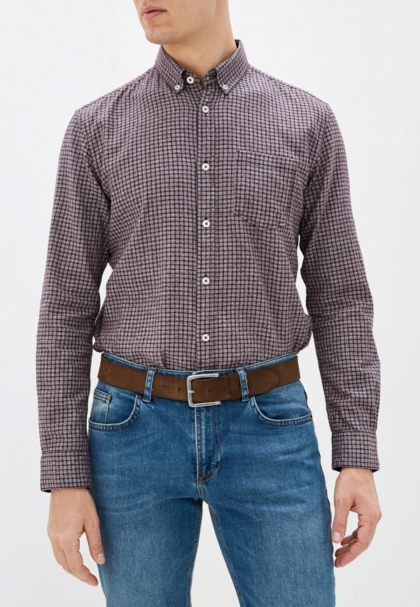 мужская рубашка с длинным рукавом tom tailor, бордовая
