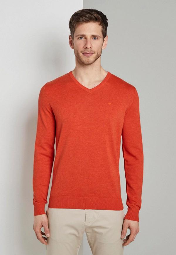 мужской пуловер tom tailor, оранжевый