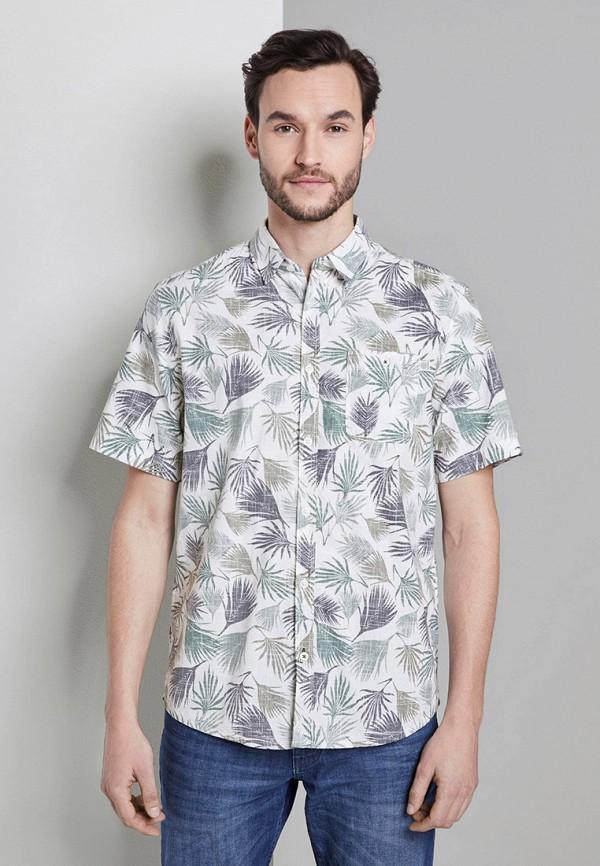 мужская рубашка с коротким рукавом tom tailor, разноцветная