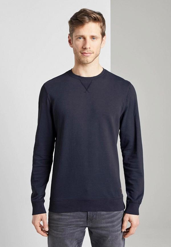 мужской свитшот tom tailor, черный