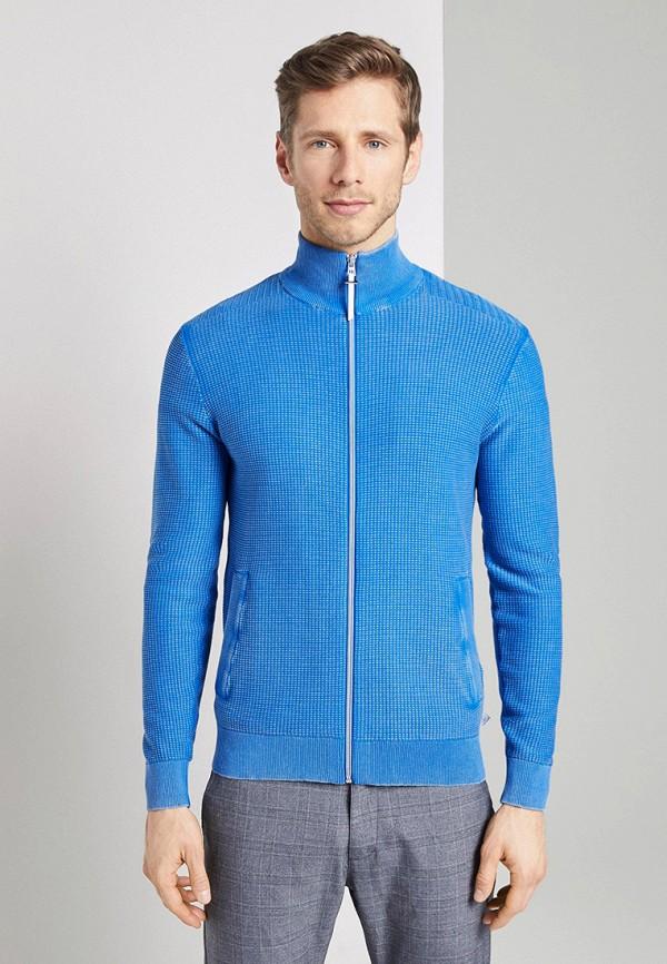 мужской кардиган tom tailor, голубой